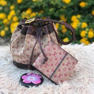 ✅✅Louis Vuitton mini Lin Noe with Lv mini wallet